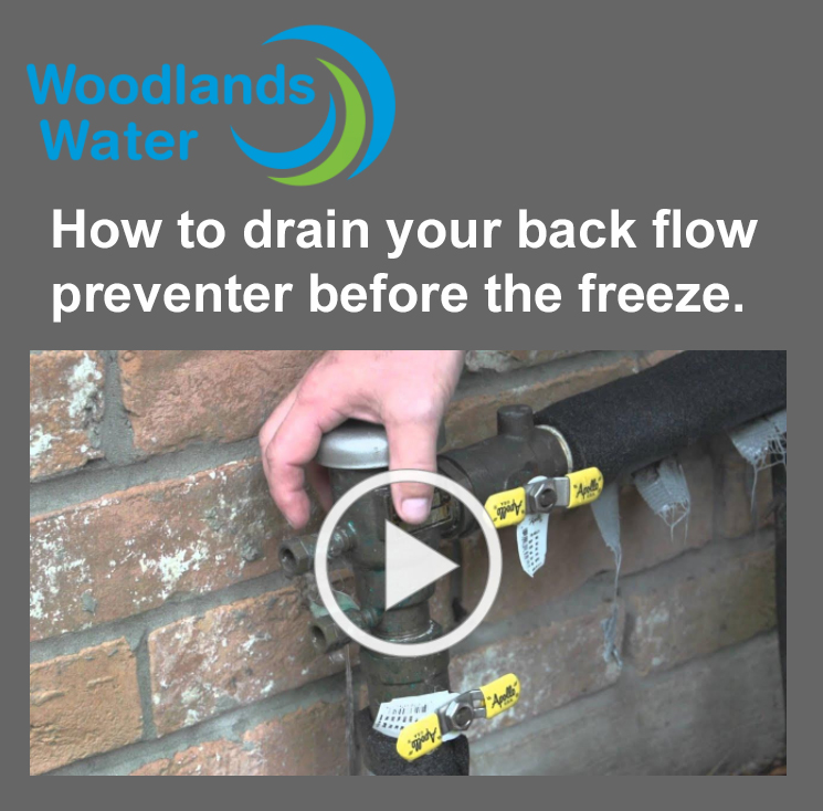 How to drain the backflow preventer